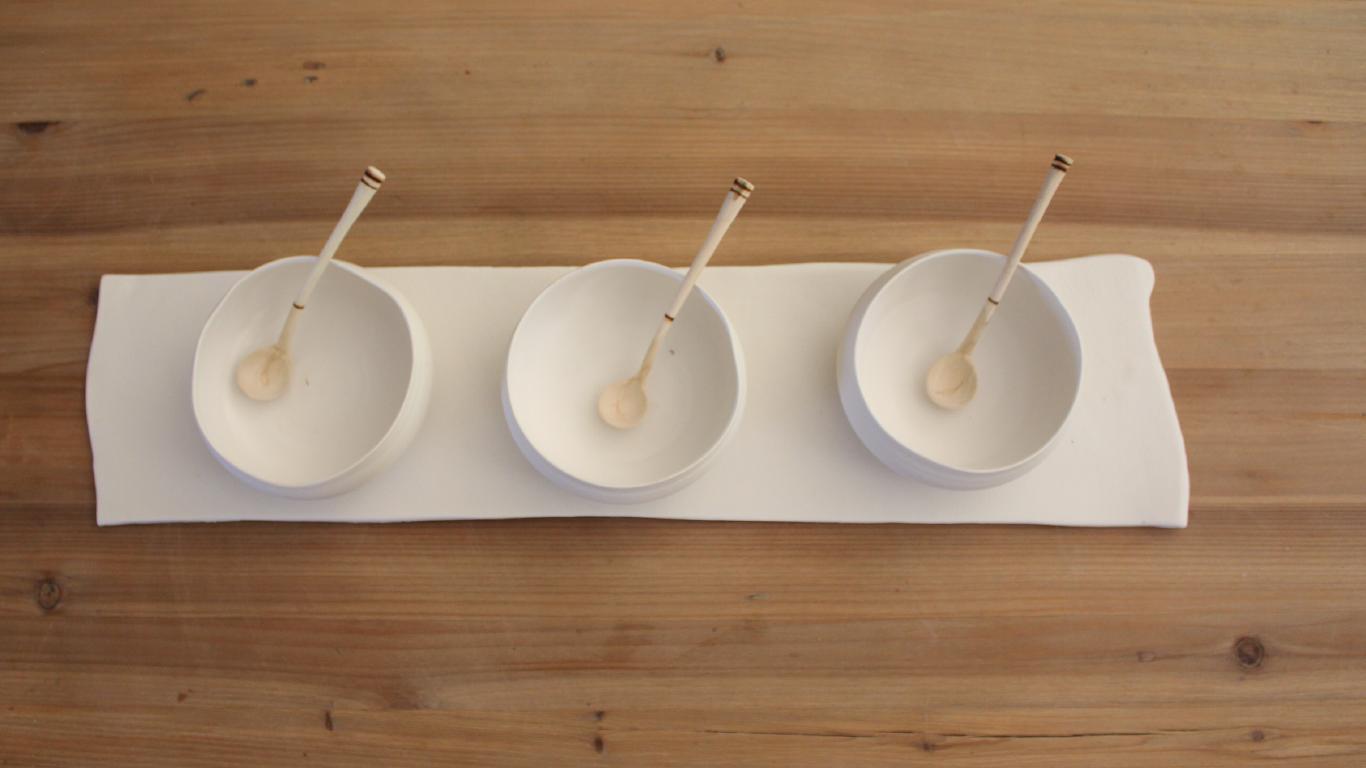 White Range Sauce Bowls